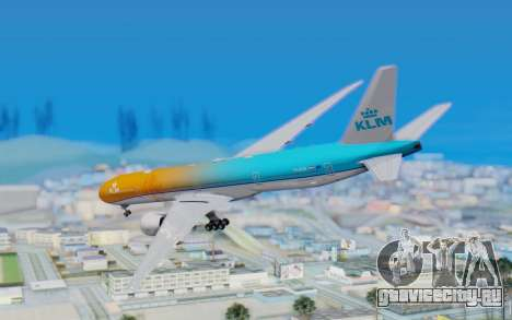 Boeing 777-300ER KLM - Royal Dutch Airlines v4 для GTA San Andreas вид слева