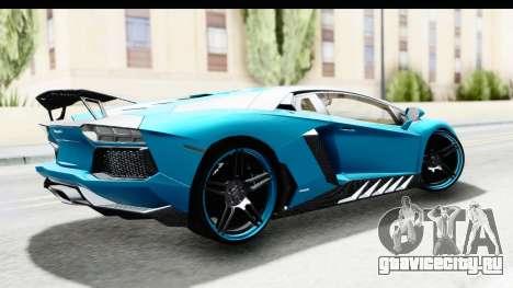 Lamborghini Aventador LP700-4 Novitec Torado для GTA San Andreas вид слева