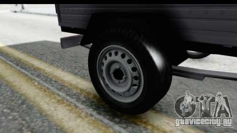 Volkswagen T4 Trailer для GTA San Andreas вид сзади