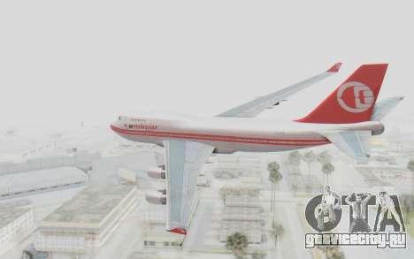 Boeing 747-200 Malaysia Airlines для GTA San Andreas вид слева