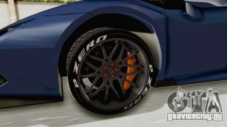 Lamborghini Huracan Stance Style для GTA San Andreas вид сзади