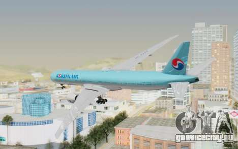 Boeing 777-300ER Korean Air для GTA San Andreas вид слева