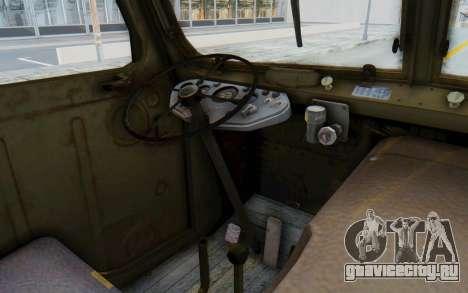 Praga V3S для GTA San Andreas вид изнутри