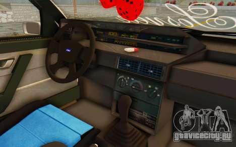Fiat Tempra Special TR для GTA San Andreas вид изнутри