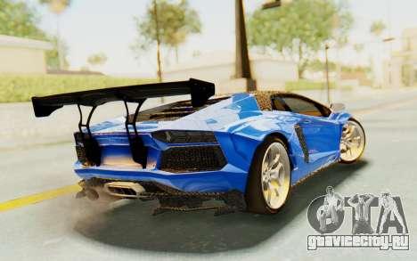 Lamborghini Aventador LP700-4 LB Walk Fenders для GTA San Andreas вид слева