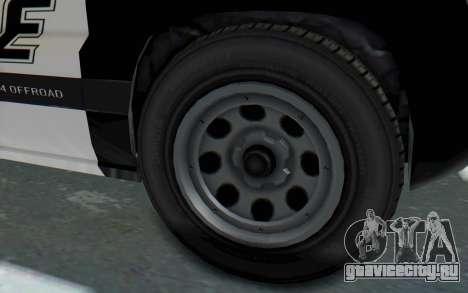 Canis Seminole Police Car для GTA San Andreas вид сзади