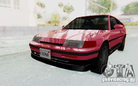 Dinka Blista Compact 1990 для GTA San Andreas вид сзади слева