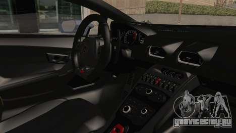 Lamborghini Huracan Stance Style для GTA San Andreas вид изнутри