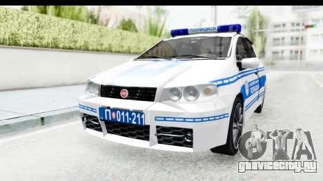 Fiat Punto Mk2 Policija для GTA San Andreas вид справа
