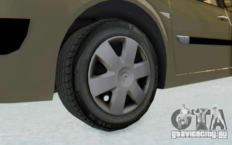 Renault Megane 2 для GTA San Andreas вид сзади