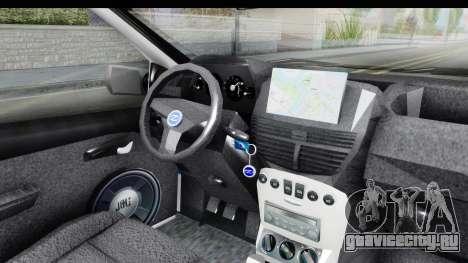 Fiat Punto Mk2 Policija для GTA San Andreas вид сбоку