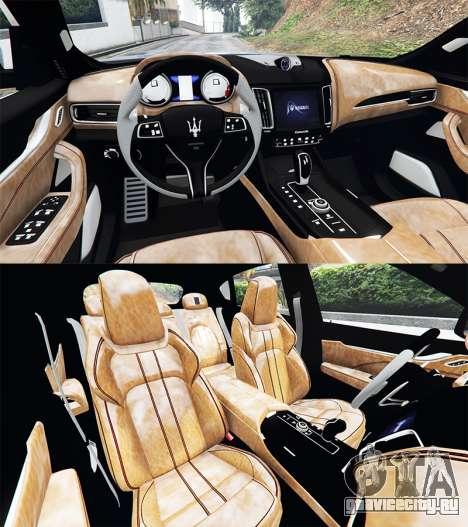 Maserati Levante 2017 [add-on] для GTA 5 вид сзади справа