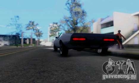 Chevrolet 369 Camaro SS для GTA San Andreas вид сзади