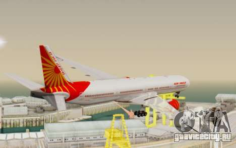 Boeing 777-300ER India Air для GTA San Andreas вид справа