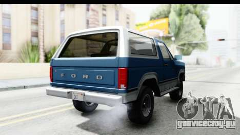 Ford Bronco 1980 для GTA San Andreas вид справа