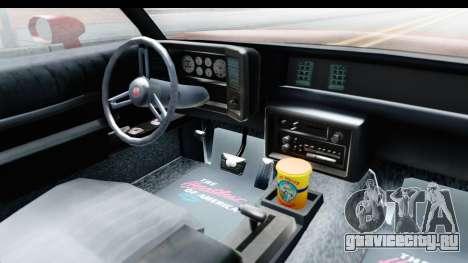 Chevrolet Monte Carlo Breaking Bad для GTA San Andreas вид изнутри