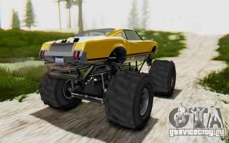 Declasse Sabre Turbo XL для GTA San Andreas вид сзади слева