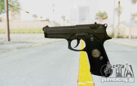 Tariq Iraqi Pistol Back v1 Black для GTA San Andreas второй скриншот