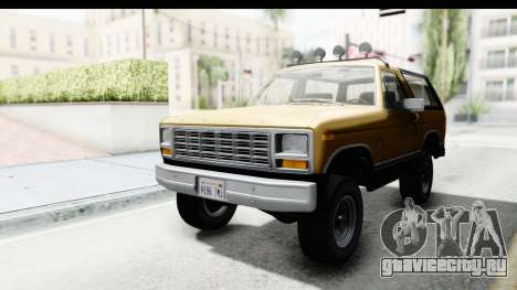 Ford Bronco 1980 Roof IVF для GTA San Andreas
