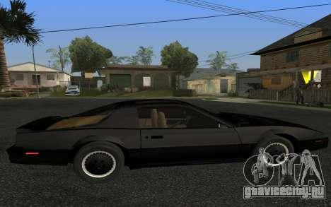 K.I.T.T. 2000 Pilot для GTA San Andreas вид слева