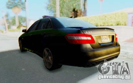 Mercedes-Benz E63 German Police Blue-Yellow для GTA San Andreas вид справа