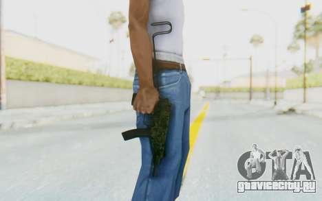 VZ-61 Skorpion Unfold Stock Green Flecktarn Camo для GTA San Andreas третий скриншот