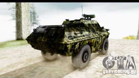 BOV 86M Camo для GTA San Andreas вид сзади слева