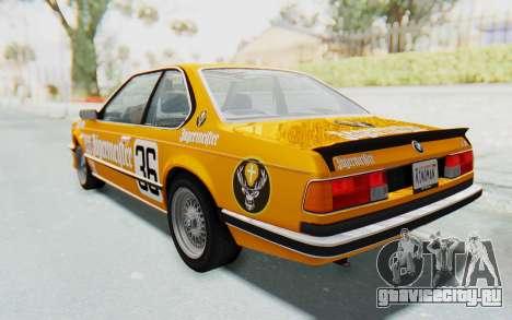 BMW M635 CSi (E24) 1984 HQLM PJ3 для GTA San Andreas двигатель