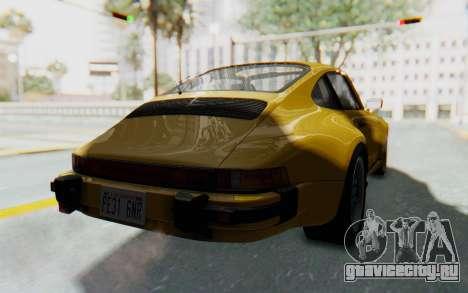 Porsche 911 Turbo 3.2 Coupe (930) 1985 для GTA San Andreas вид справа
