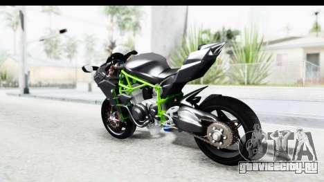 Kawasaki Ninja H2R Black для GTA San Andreas вид слева