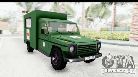 Mercedes-Benz Wolf Vojno Ambulantno Vozilo для GTA San Andreas