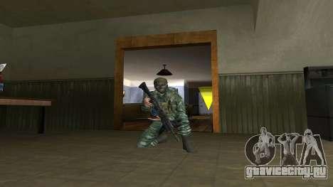 Боец ВДВ в камуфляже Березка для GTA San Andreas третий скриншот