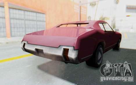 GTA VC Sabre для GTA San Andreas вид справа
