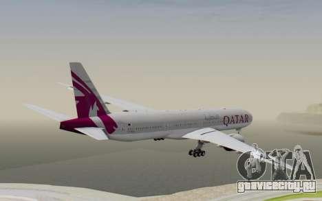 Boeing 777-300ER Qatar Airways v1 для GTA San Andreas вид справа