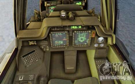 AH-64 Apache Marines для GTA San Andreas вид изнутри