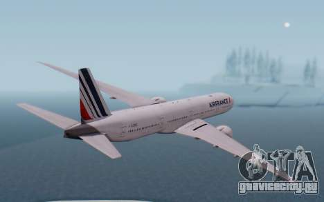 Boeing 777-300ER France Air для GTA San Andreas вид справа