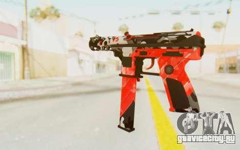 Tec-9 Neural Red для GTA San Andreas второй скриншот