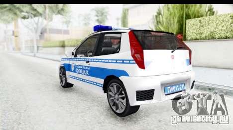 Fiat Punto Mk2 Policija для GTA San Andreas вид сзади слева