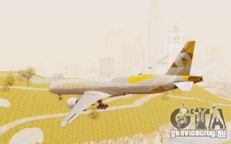 Boeing 777-300ER Etihad Airways для GTA San Andreas вид слева