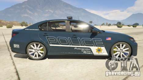 Lexus GS 350 Hot Pursuit Police для GTA 5 вид слева