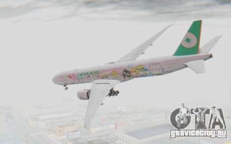 Boeing 777-300ER Eva Air v1 для GTA San Andreas вид слева