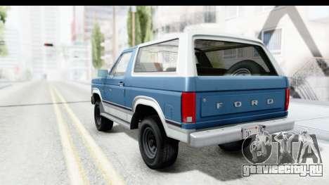 Ford Bronco 1980 для GTA San Andreas вид слева
