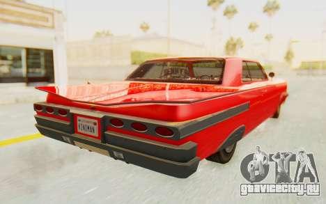 GTA 5 Declasse Voodoo Alternative v2 для GTA San Andreas вид слева