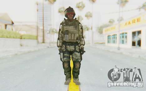 CoD AW US Marine Assault v3 Head C для GTA San Andreas второй скриншот
