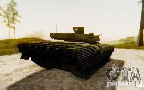 T-14 Armata для GTA San Andreas вид сзади слева