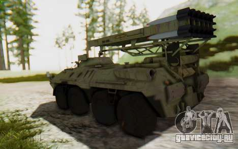 MGSV Phantom Pain ZHUK APC Tank для GTA San Andreas вид слева