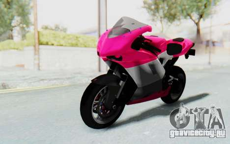 Ducati 1098R High Modification для GTA San Andreas вид сзади слева