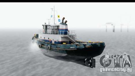 GTA 5 Buckingham Tug Boat v2 для GTA San Andreas вид слева