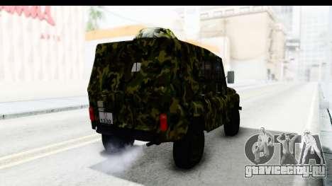 УАЗ-469 Военная полиция Сербии для GTA San Andreas вид сзади слева
