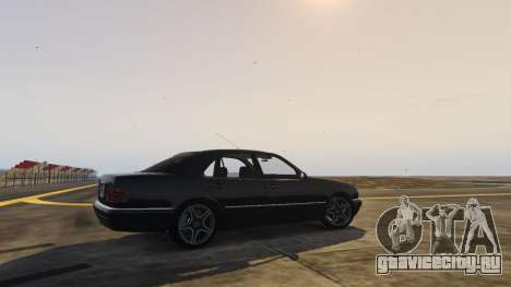 Mercedes-Benz W210 v1.0 для GTA 5 вид сзади слева